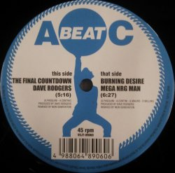 画像1: Dave Rodgers / The Final Countdown * Mega Nrg Man / Burning Desire (VEJT-89060) YYY174-2367-5-5