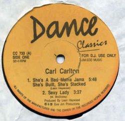 画像1: $$ Carl Carlton / Surface – She's A Bad Mama Jama She's Build, She's Stacked / Fallin In Love (CC 733) YYY249-2857-3-3