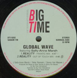 画像1: $ GLOBAL WAVE feat.SALLY-ANNE MARSH / REALITY 穴 (BTI 9202) YYY296-3568-1-1 店長後程確認