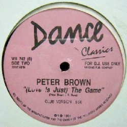 画像1: $$ PETER BROWN / (LOVE IS JUST) THE GAME (WR 742) Y10 店長後程確認